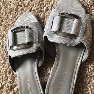 Donald J. Pliner Shoes - Donald J Pliner Silver Slip On Sandal